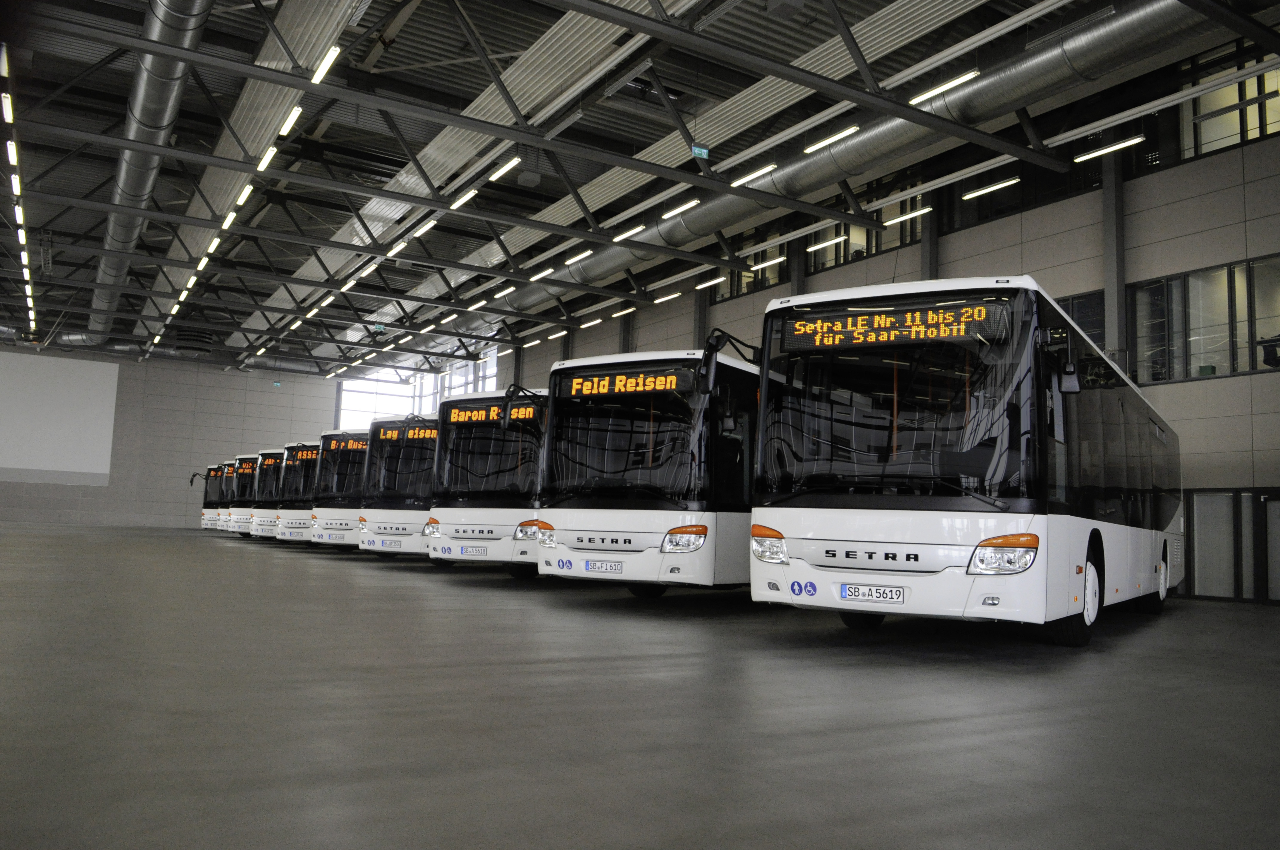 Large-scale orders for Setra low entry buses